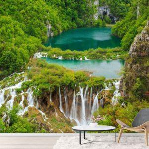Fototapet Cascada - Lacurile Plitvice - Parcul National din Croatia