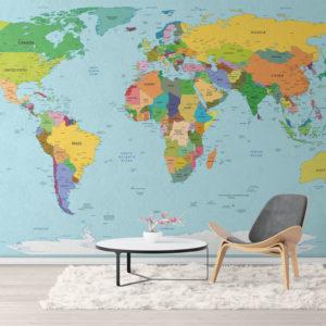 Harta Lumii Fototapet