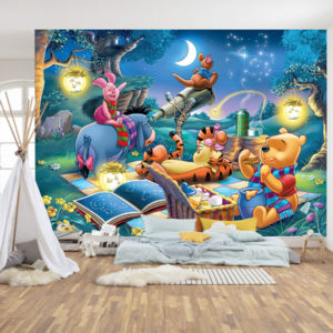 Winnie the Pooh Noaptea - Tapet Personalizat