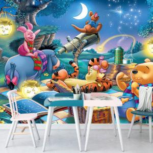Winnie the Pooh Noaptea - Tapet Foto
