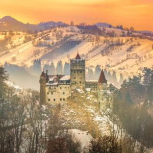 Fototapet Apus de Soare - Castelul Bran