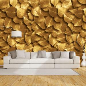 Fototapet Abstract - Frunze Aurii