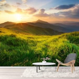 Fototapet - Rasarit pe Valea Muntelui