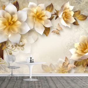 Fototapet - Flori 3D Abstracte
