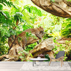 Leopard in Jungla - Fototapet
