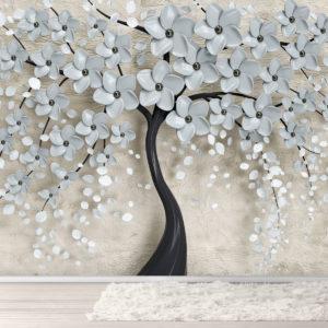 Fototapet Copac 3D Înflorit