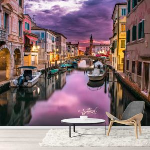 Fototapet Apus de soare in Venetia - Lavabil si rezistent